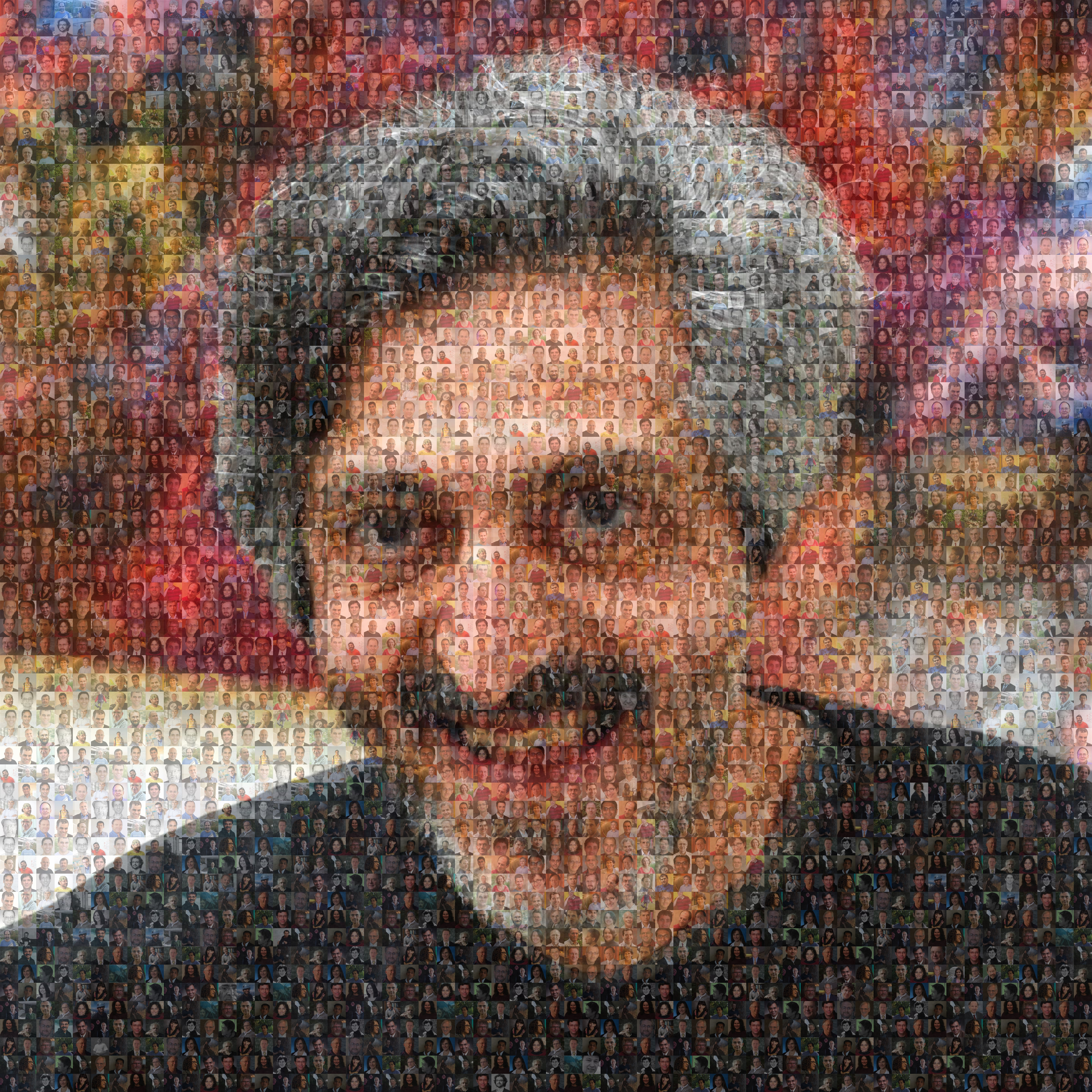 Avi Wigderson is 60 - Mosaic Image