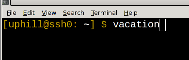 vacation in terminal